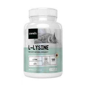 L-Lysin för Katt - Naturligt Tillskott för Immunförsvaret - 120 tabletter - Animigo