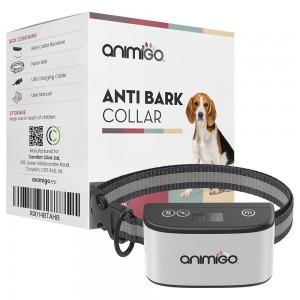 Antiskällhalsband för hundar - Vibrationshalsband med ljud för hundträning - Tryggt och smärtfritt - Vattentåligt - Animigo