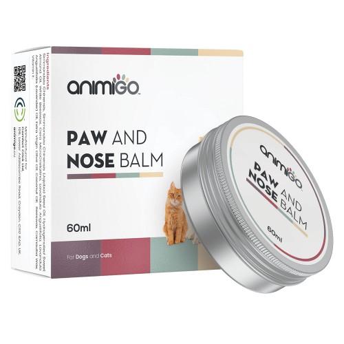 Nos- och tassalva för katter & hundar - Återfuktande salva - vårdar torr, skrovlig, skadad & sprucken hud - Naturlig, snabbverkande formel - 60ml