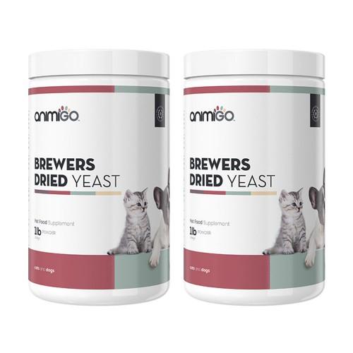 Torrjäst i Pulverform - Hälsofrämjande Näring för Hund och Katt - Animigo - 454 g - 2-pack