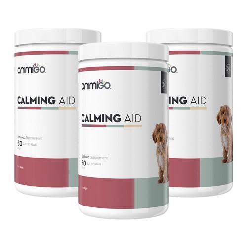 Calming Aid för Hund - Naturligt lugnande medel till stressad hund - Ett kosttillskott för oroliga hundar - 3 pack - 180 tuggtillskott