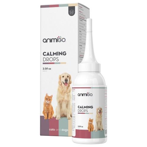 Lugnande droppar för hund och katt - Lugnande medel för oroliga katter och hundar - Effektiva droppar för stressade husdjur - 100ml