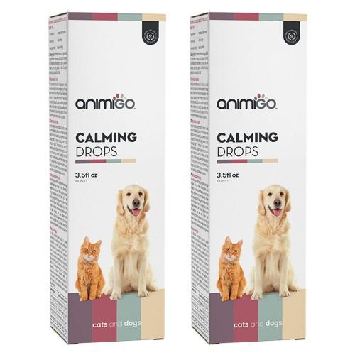 Lugnande droppar för hund och katt - Lugnande medel för oroliga katter och hundar - Effektiva droppar för stressade husdjur - 2 pack - 200ml