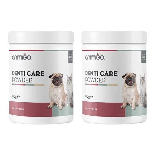 Denti-Care i Pulverform - Naturligt Tillskott för Tandhygien för Hund och Katt - Animigo - 60g Tub -