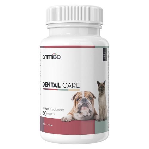 Dental Care Tandvård - Tabletter för Tänder och Tandkött för Hund och Katt - Animigo - 60 kapslar