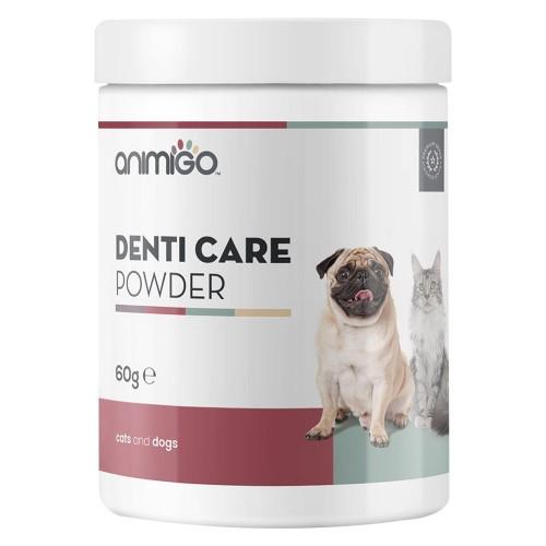 Denti-Care i Pulverform - Naturligt tillskott för tandhygien för hund och katt - Gjord på helt naturliga ingredienser - Animigo - 60g pulver