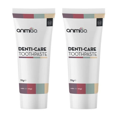 Denti-Care Tandkräm - Ätbar Tandkräm för Dagligt Bruk för Katter och Hundar - Animigo - 70g Tub - 2