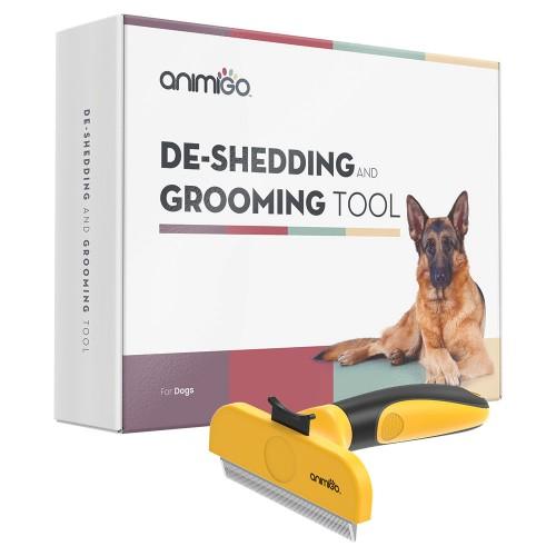 Päls- och trimverktyg för hundar - Reducerar fällning - Problemfri rengöring - För alla pälslängder - Gjord av hållbart rostfritt stål