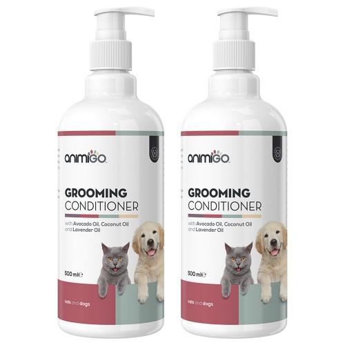 Grooming Conditioner - Naturligt Balsam för Känsliga Katter & Hundar - 500 ml - 2 Pack