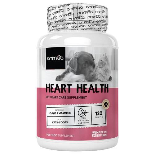 Heart Health för Hjärtat - Kosttillskott för Hjärtat för Hund och Katt - Animigo - 120 tabletter