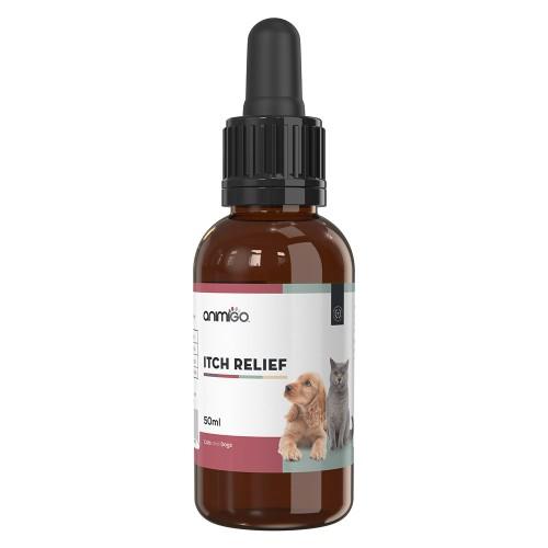 Klådstillande Medel för Hund och Katt - Kan lugna utslag - Vårdar eksem och hudutslag hos hund och katt - Effektiv mot allergi hos husdjur - 50ml