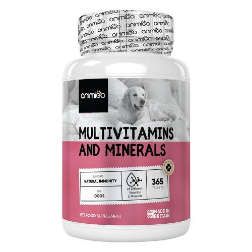 Multivitaminer & Mineraler för Hundar - Tabletter för hälsa och välmående - 365 tabletter