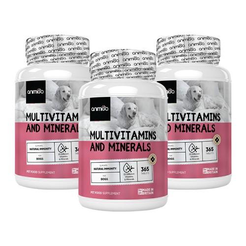 Multivitaminer & Mineraler för Hundar - Tabletter för hälsa och välmående - 1095 tabletter - 3-pack