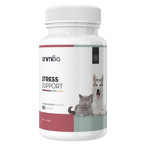 Stress Support Kapslar för stressande hundar & katter - Naturligt lugnande till hund & lugnande för katt i ett - För att lindra stress hos hund & katt